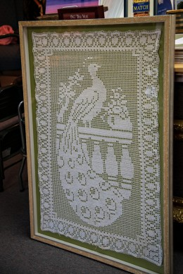 A filet crochet antique.