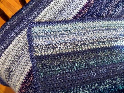 Reverse crochet edge