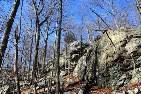 This outcrop of Rocks has to be around 25ft. high