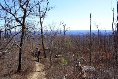 Jim reaches the ridge