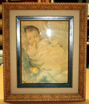 Antique frame, framed